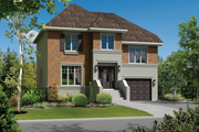 European Style House Plan - 3 Beds 1 Baths 1994 Sq/Ft Plan #25-4261 Exterior - Front Elevation
