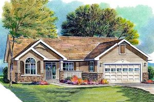 Traditional Exterior - Front Elevation Plan #18-316