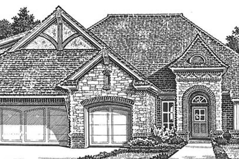 Country Exterior - Front Elevation Plan #310-1272