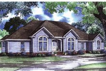 European Exterior - Front Elevation Plan #17-3038
