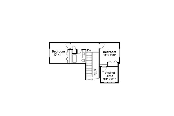 Bungalow Floor Plan - Upper Floor Plan Plan #124-1028