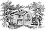 Cottage Style House Plan - 3 Beds 2.5 Baths 1272 Sq/Ft Plan #329-166 Exterior - Front Elevation