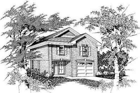Cottage Exterior - Front Elevation Plan #329-166