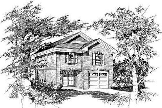 Cottage Exterior - Front Elevation Plan #329-166