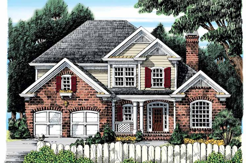 Country Exterior - Front Elevation Plan #927-893