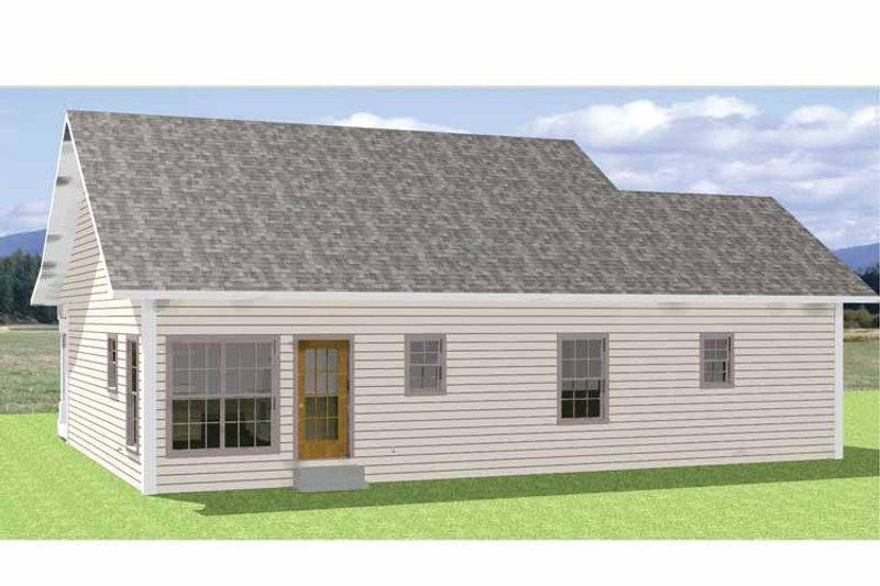 Country Exterior - Rear Elevation Plan #44-208 - Houseplans.com