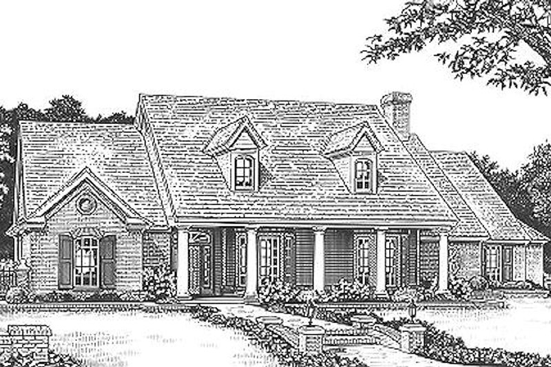 Craftsman Style House Plan - 4 Beds 2.5 Baths 2529 Sq/Ft Plan #310-955 Exterior - Front Elevation