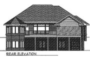 Traditional Style House Plan - 4 Beds 2.5 Baths 3193 Sq/Ft Plan #70-247 Exterior - Rear Elevation