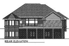 House Plan Design - Traditional Exterior - Rear Elevation Plan #70-247
