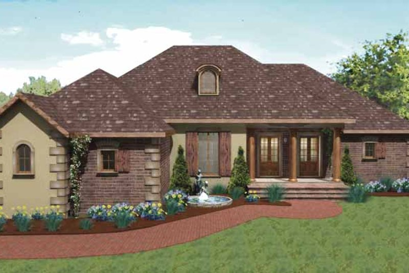 Traditional Exterior - Front Elevation Plan #44-207 - Houseplans.com