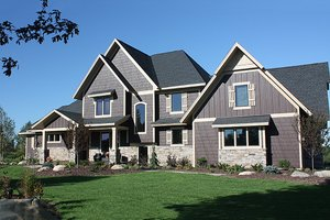 Country Exterior - Front Elevation Plan #51-555