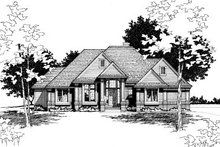 Traditional Exterior - Front Elevation Plan #20-145