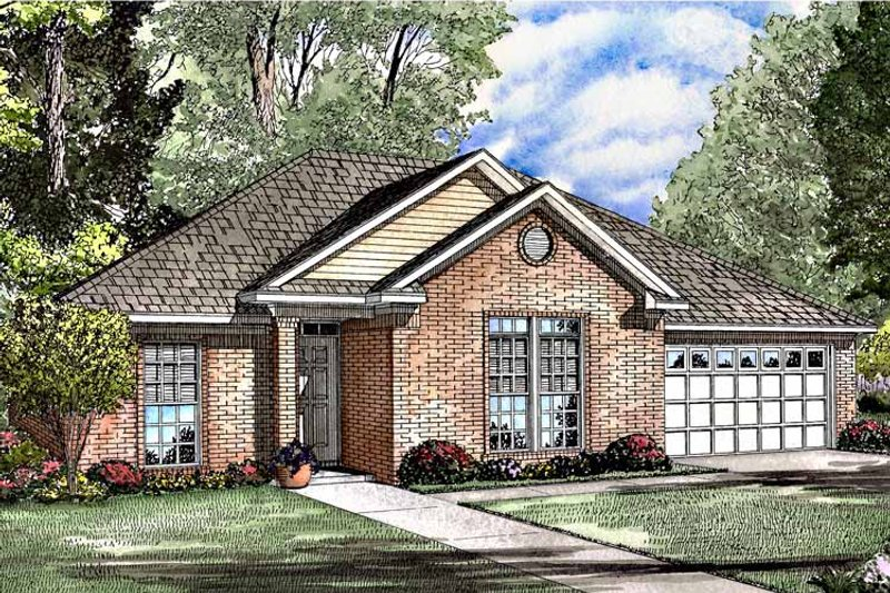 Ranch Exterior - Front Elevation Plan #17-2978 - Houseplans.com