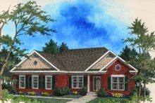 Architectural House Design - Traditional Exterior - Front Elevation Plan #56-134