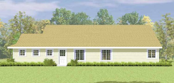 Country Floor Plan - Other Floor Plan Plan #72-1079