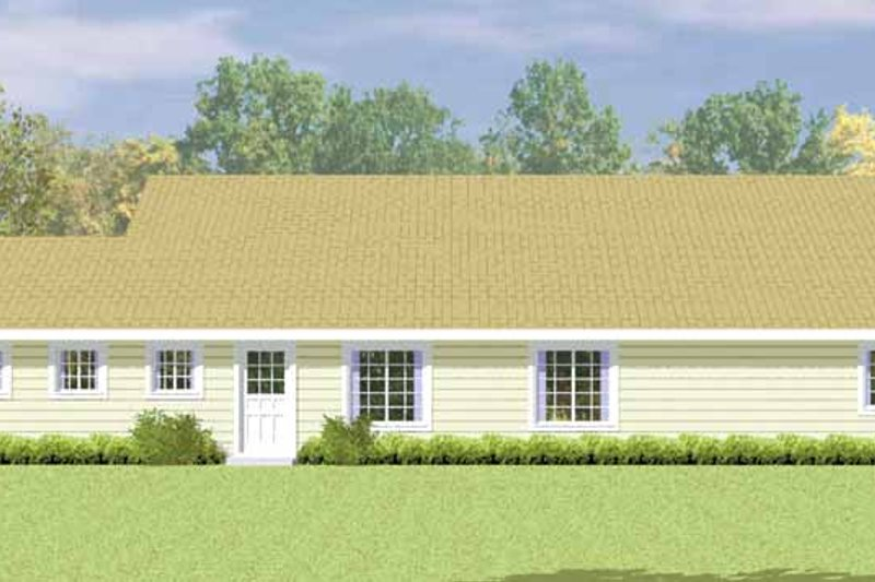 House Blueprint - Country Exterior - Other Elevation Plan #72-1079