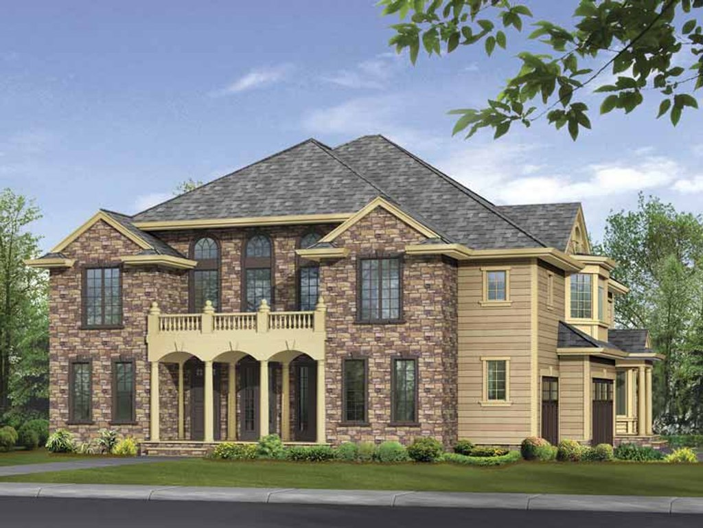 Classical style house plan 4 beds 5 baths 4370 sq ft for Www homeplans com