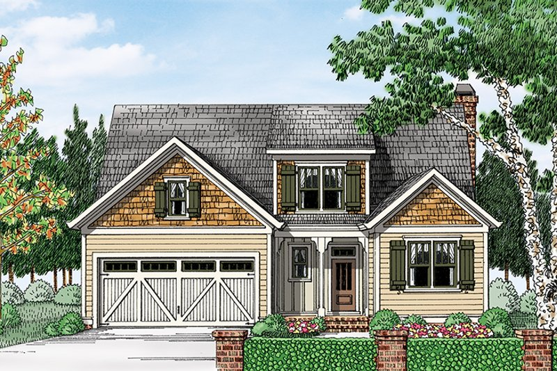 European Exterior - Front Elevation Plan #927-965