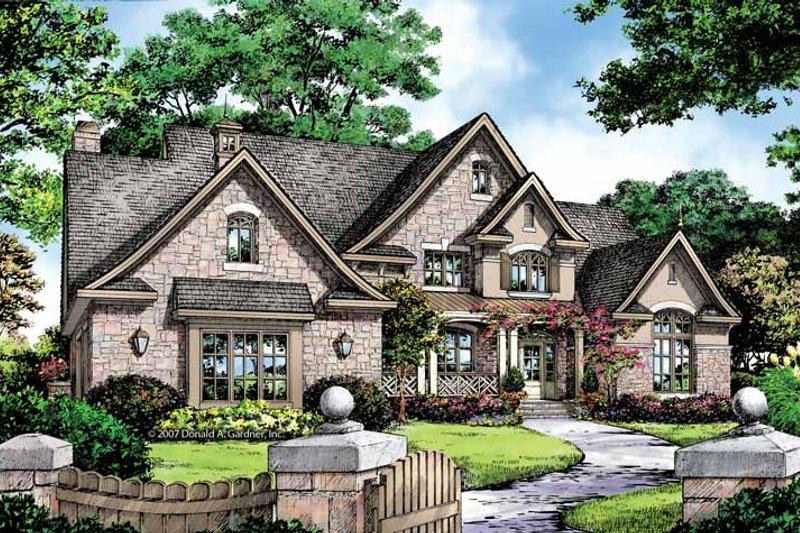 Architectural House Design - European Exterior - Front Elevation Plan #929-870