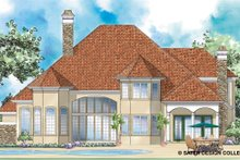 House Plan Design - Mediterranean Exterior - Rear Elevation Plan #930-266