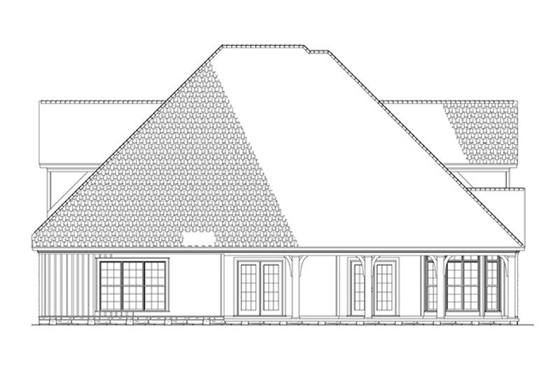 Country Exterior - Rear Elevation Plan #17-2677 - Houseplans.com