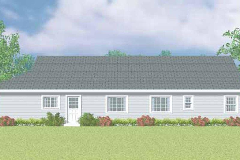 House Blueprint - Craftsman Exterior - Other Elevation Plan #72-1098