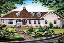Ranch Exterior - Front Elevation Plan #314-222