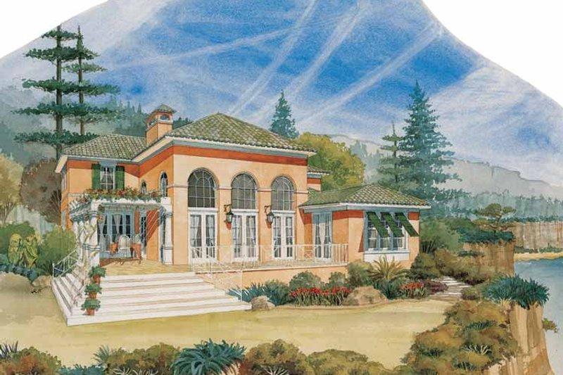 House Plan Design - Mediterranean Exterior - Rear Elevation Plan #429-192