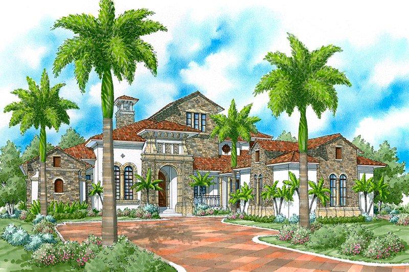 House Plan Design - Mediterranean Exterior - Front Elevation Plan #930-492
