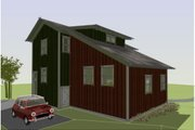 Cottage Style House Plan - 3 Beds 2.5 Baths 1492 Sq/Ft Plan #450-1 Exterior - Rear Elevation