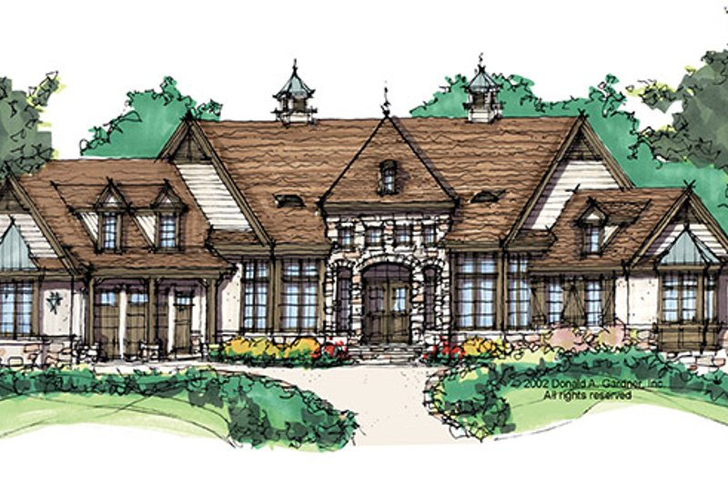 European Exterior - Front Elevation Plan #929-941 - Houseplans.com