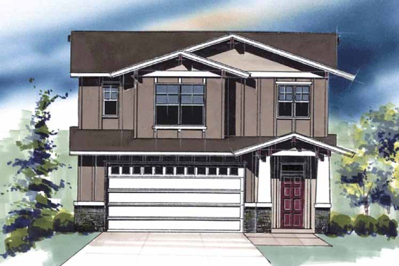 Traditional Exterior - Front Elevation Plan #509-402 - Houseplans.com