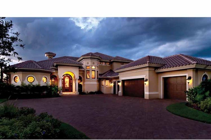 Mediterranean Exterior - Front Elevation Plan #930-440 - Houseplans.com