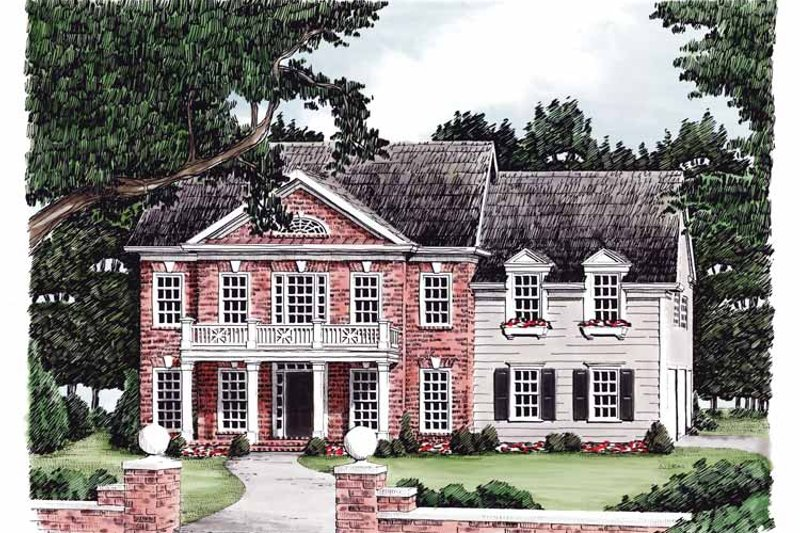 Classical Exterior - Front Elevation Plan #927-576
