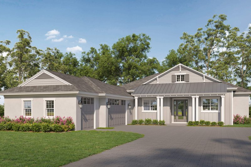 House Blueprint - Farmhouse Exterior - Front Elevation Plan #938-113