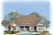 Ranch Style House Plan - 4 Beds 2 Baths 2353 Sq/Ft Plan #929-750 Exterior - Rear Elevation