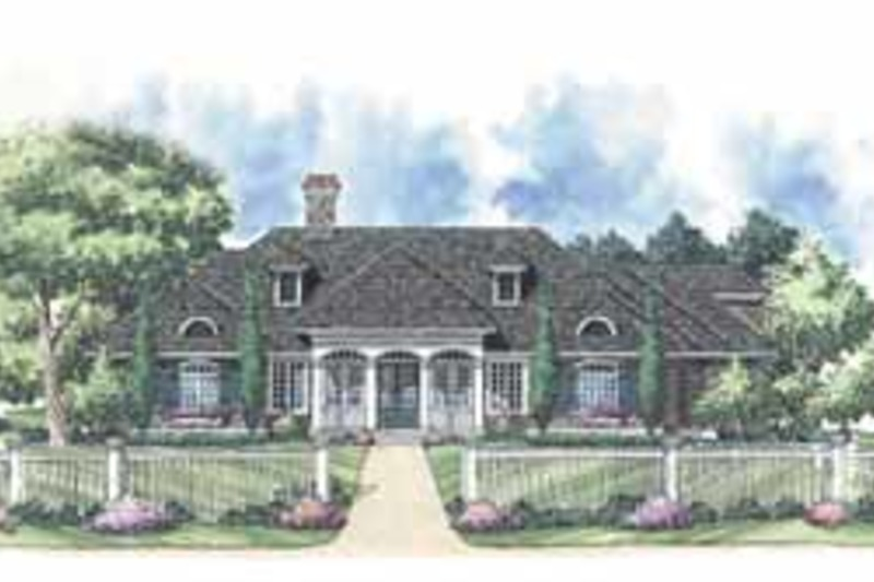 Colonial Exterior - Front Elevation Plan #930-244