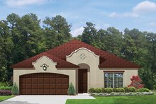 Home Plan - Mediterranean Exterior - Front Elevation Plan #1058-70