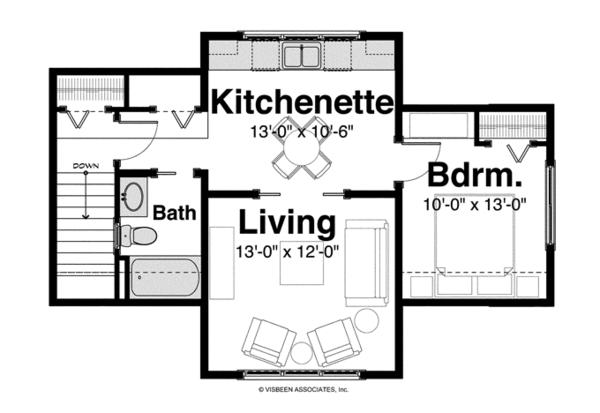 Craftsman Floor Plan - Other Floor Plan Plan #928-254