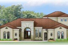 Architectural House Design - Mediterranean Exterior - Front Elevation Plan #1058-84