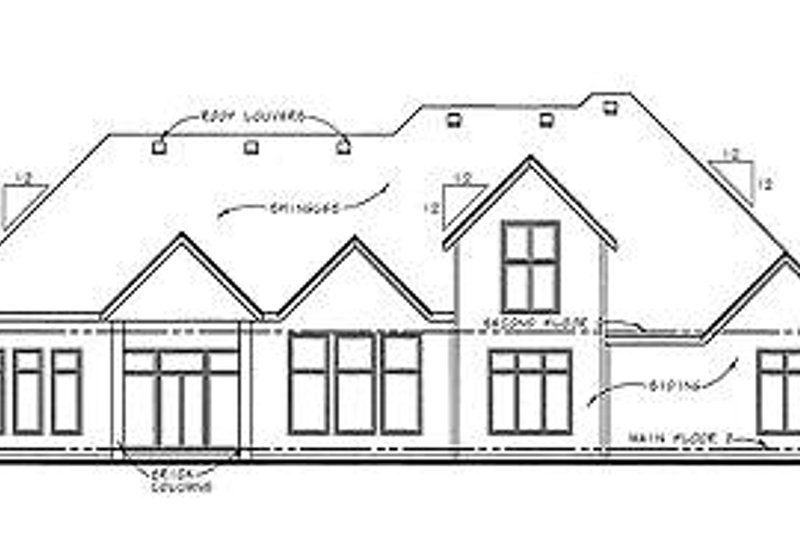 Traditional Exterior - Rear Elevation Plan #20-1707 - Houseplans.com