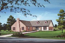 Dream House Plan - Traditional Exterior - Front Elevation Plan #45-401