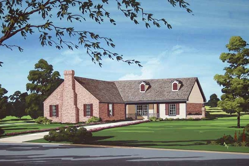 Traditional Exterior - Front Elevation Plan #45-401 - Houseplans.com
