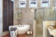 Mediterranean Style House Plan - 3 Beds 3.5 Baths 3433 Sq/Ft Plan #930-444 Interior - Master Bathroom