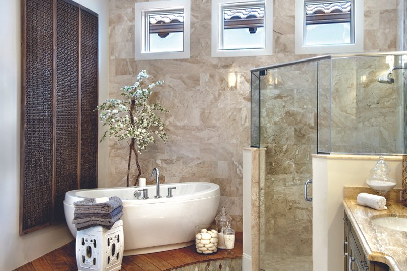 Mediterranean Interior - Master Bathroom Plan #930-444 - Houseplans.com
