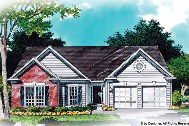 Traditional Exterior - Front Elevation Plan #54-341 - Houseplans.com