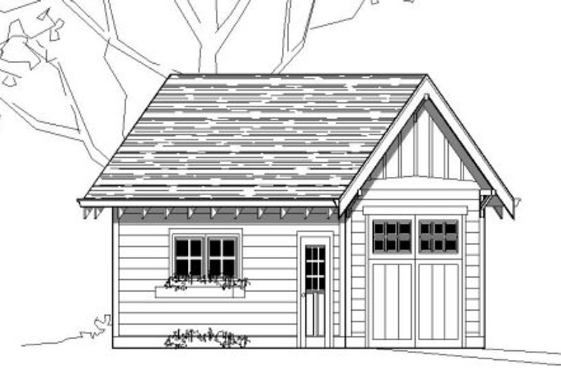 Bungalow Style House Plan - 0 Beds 0 Baths 240 Sq/Ft Plan #423-16 Exterior - Front Elevation