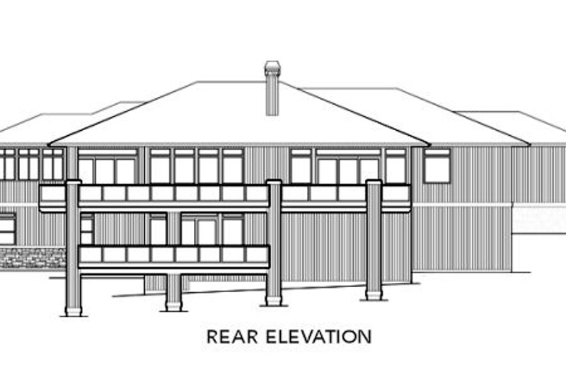 Contemporary Exterior - Rear Elevation Plan #48-299 - Houseplans.com