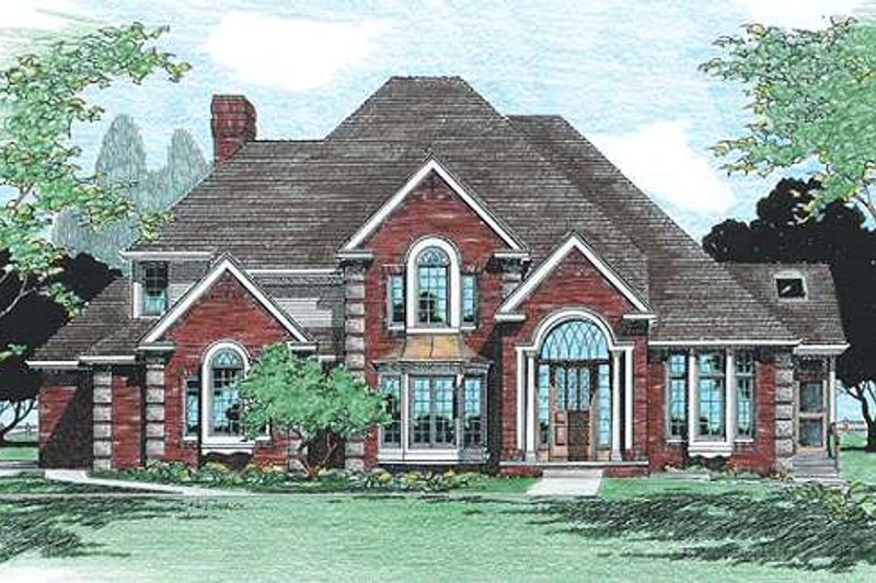 European Exterior - Front Elevation Plan #20-1166