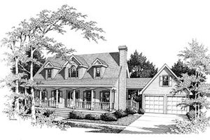 Colonial Exterior - Front Elevation Plan #10-201